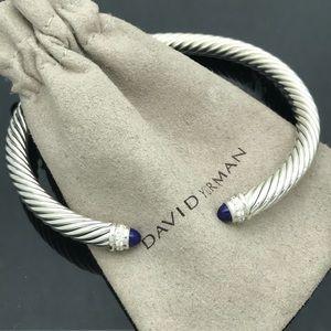 D. Yurman Lapis Lazuli Diamond Cuff Bracelet
